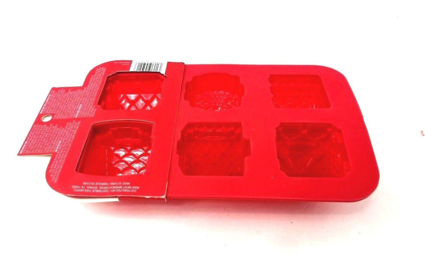Celebrate It Christmas Silicone Treat Molds Christmas Cottages Chocolate Molds