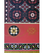 ITALY Renaissance Ornamentation of Rugs Carpets - A. RACINET Color Litho... - $19.80