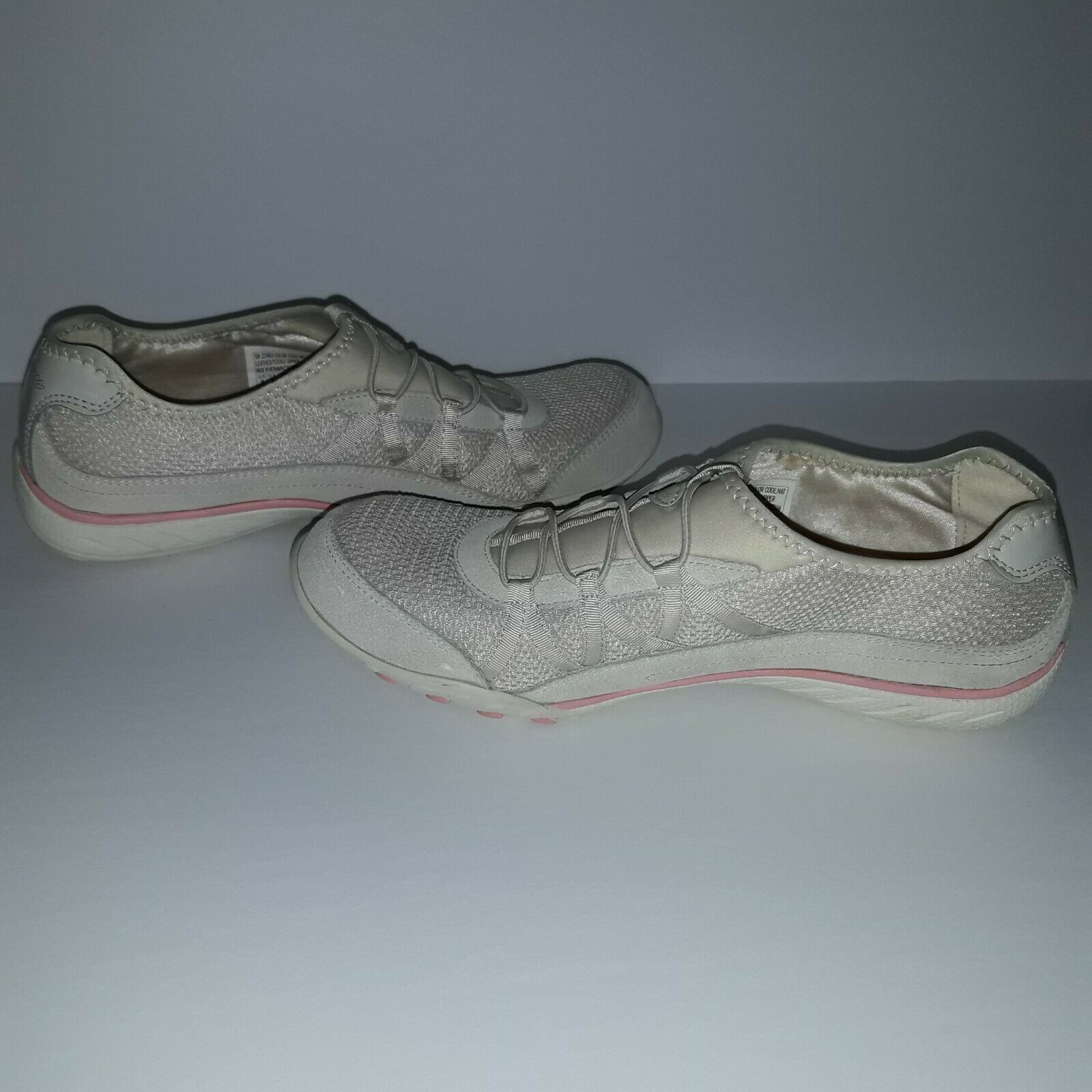 Women's Skechers Relaxed Fit Savvy Baroness shoe Size 9 Natural/Pink image 3