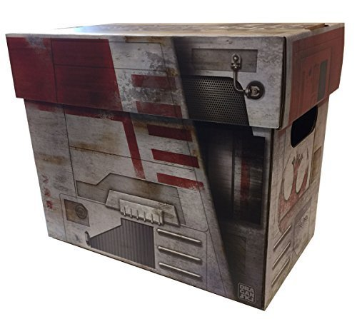 Boxes In Action - X-WING Starship Style Art SHORT COMIC Storage Box for sale  USA