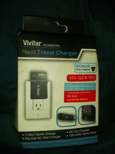 Primary image for Vivitar Rapid Travel Charger & Wall Plug VIV-QCB-902  + Euro Adapter  (5379)