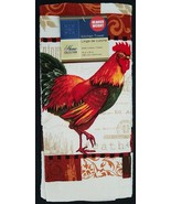 ROOSTER theme KITCHEN TOWELS set of 2 French Country Beige Chicken NEW - $7.99