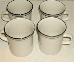 4 WHITE/GRAY CUPS - $7.00