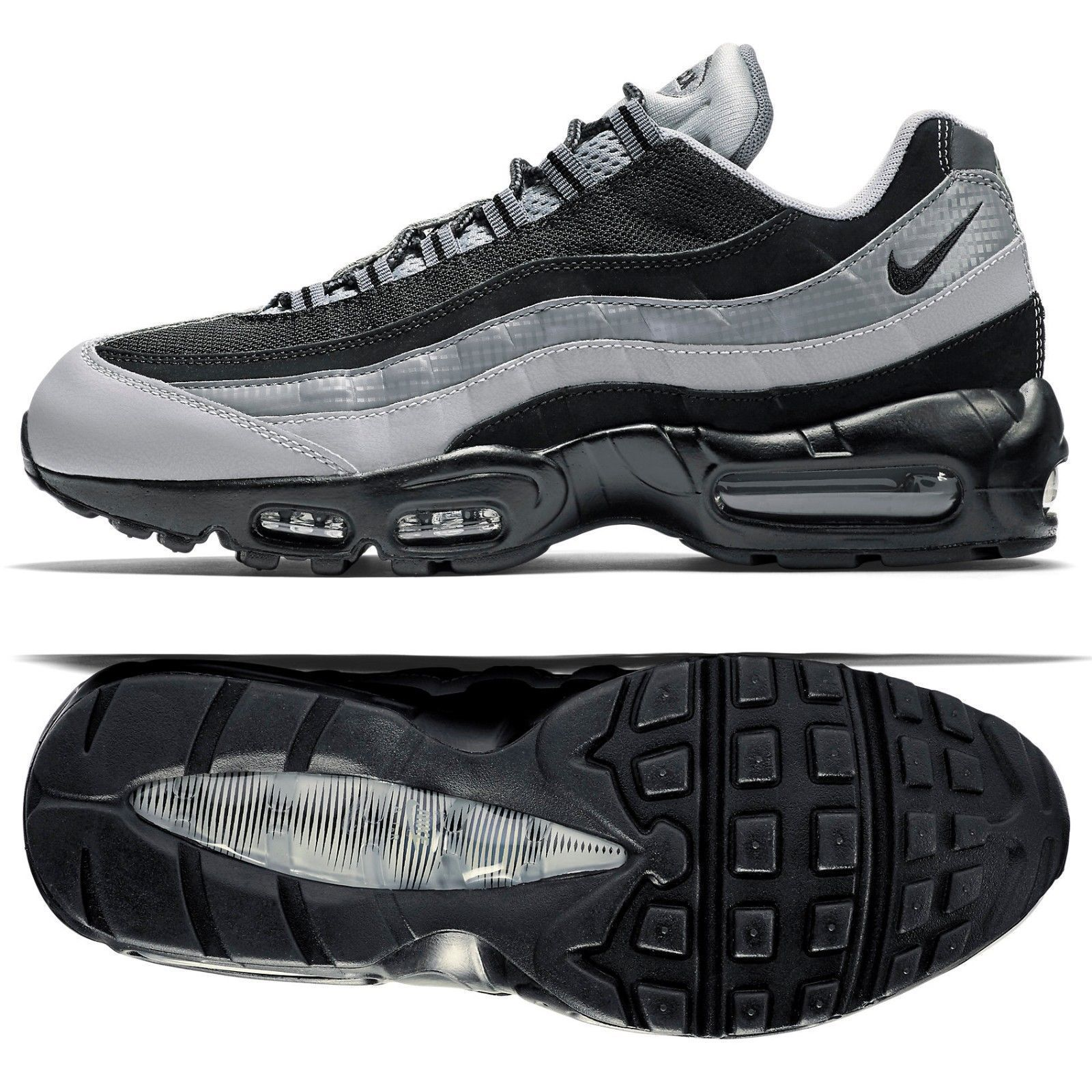 ac0009791f 57. 57. Previous. NIKE AIR MAX 95 ESSENTIAL OG BLACK/WOLF GREY SIZE 10.5  BRAND NEW (749766