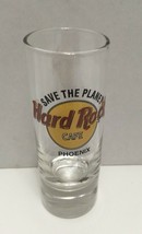 Hard Rock Cafe Phoenix Save the Planet Classic Logo Tall Double Shot Glass - $12.13