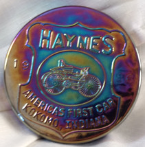 Haynes America's First Car Kokomo Indiana Glass Paperweight Antique 1986... - $17.75