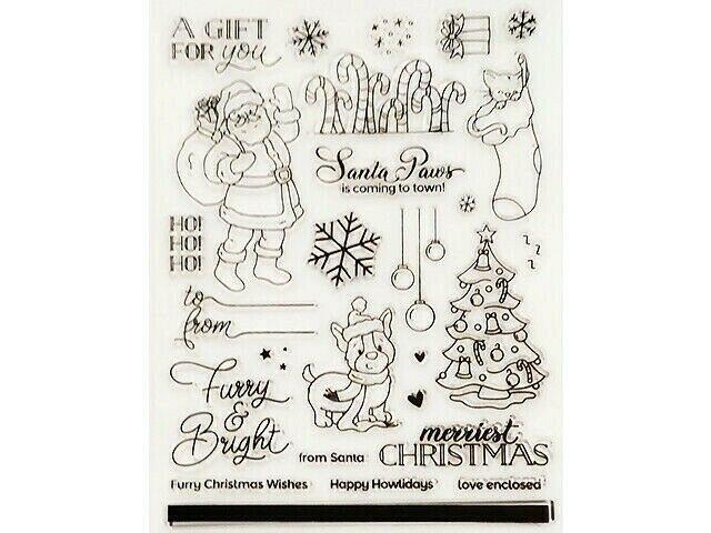 Santa Paws Clear Stamp Set