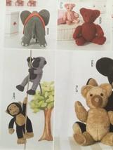 Burda Sewing Pattern 7904 32-56cm Soft Toys Monkey Bear Elephant New Cud... - $16.29