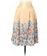 Soft Beige Skirt with Floral Print size  14 - $17.10