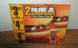 2000 McDonald's McRIB JR Register Topper-In Store Advertising-Hard To Fi... - $9.95