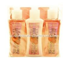 APRIL 3pc Bath & Shower APPLE POMEGRANATE Travel Set BODY WASH+LOTION+SH... - $2.95