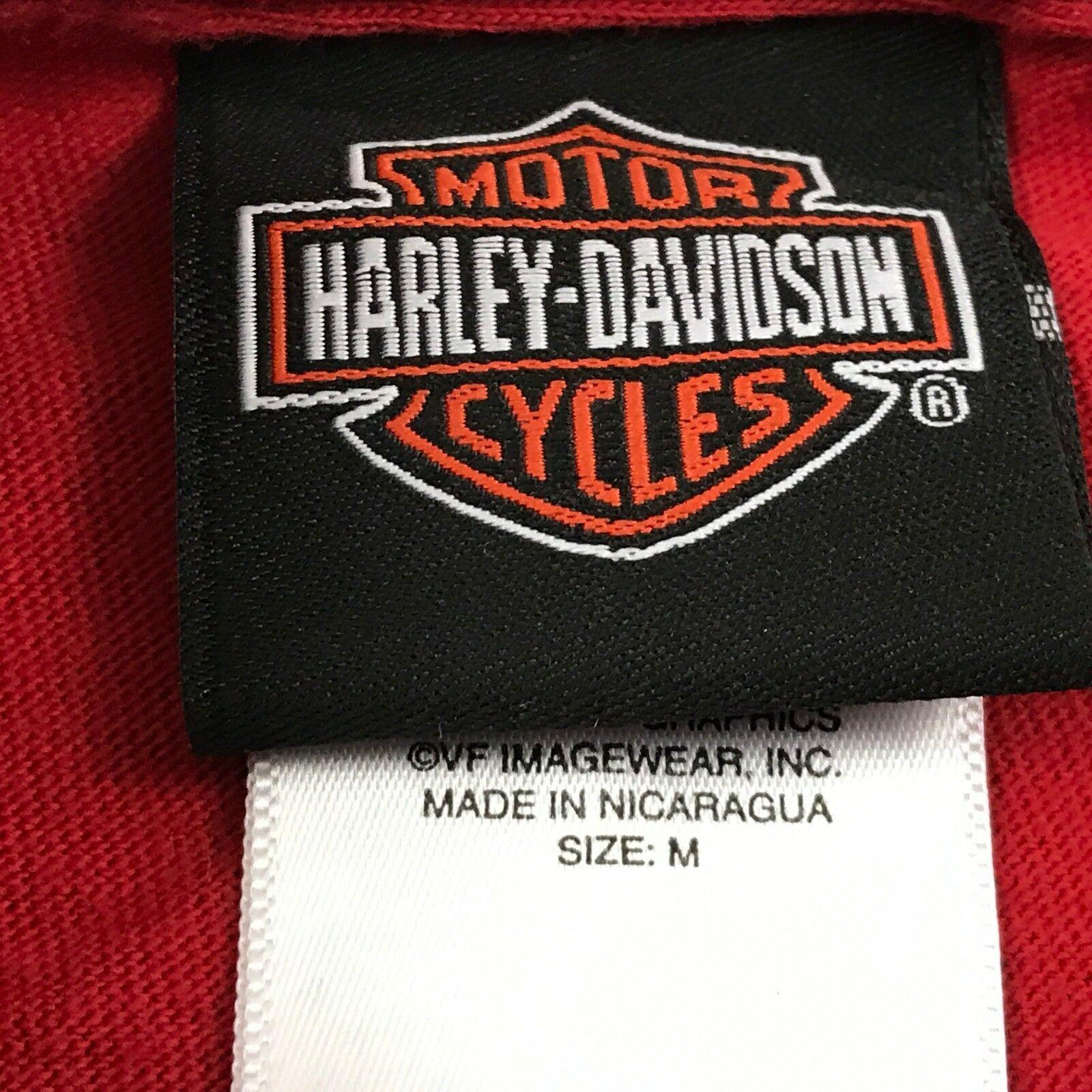 Harley Davidson Timeless Tradition Camicia Adulto Rosso Medio Maglietta Due Lati image 5