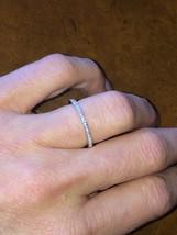 1.20Ct Round VVS1/D Diamond Engagement & Wedding Band Ring 14k White Gol... - $59.84