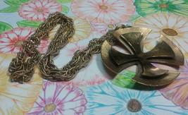"Vintage Jewelry: 2 1/2"""" Unique Cross W/22"" Chain 170515 - $14.84"