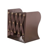 JIARI Simple Nature Style Brown Decorative Metal Iron Bookends Holder St... - $19.55