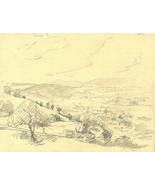 Marcus Adams - Early 20th Century Graphite Drawing, Rolling Hills - $15.49