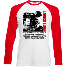 Enrico Fermi - New Red Sleeved Tshirt - $27.10