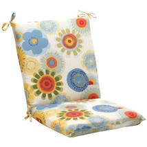 Pillow Perfect Indoor/Outdoor Multicolored Floral Square Chair Cushion - £32.38 GBP