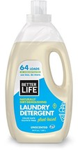 Better Life Natural Concentrated Laundry Detergent, Unscented, 64 oz