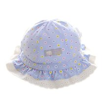Polka Dots Purple Baby Sun Cap Infant Floppy Summer Hat Toddler Bucket Hat 46 cm