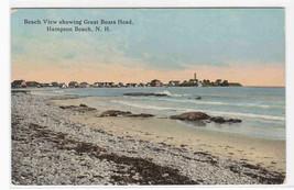 Beach View Great Boars Head Hampton Beach New Hampshire postcard - $6.44
