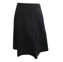 Talbots Women's Black Pleated Knee Length A Line Skirt Size 14 New With ... - $41.87
