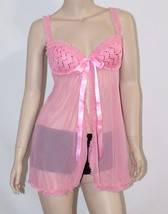 VICTORIA'S SECRET SEXY LITTLE THINGS RUFFLED PUSH-UP BABYDOLL Lingerie 3... - $12.55