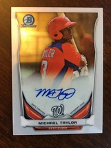 2014 Bowman Chrome Michael Taylor BCAP-MTA Rookie Baseball Card Auto Nat... - $9.99