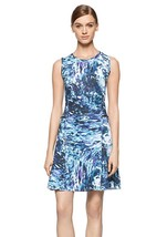 NWT CALVIN KLEIN BLUE PRINTED SCUBA DRESS SIZE M and L $98 - $32.49