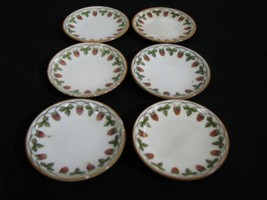 "Scarce Antique 6 Wedgwood Creamware Butter Pats/""Strawberry Fruit"" Pattern - $59.99"