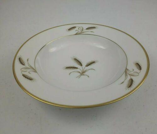"Rosenthal Bountiful Golden Wheat Center Gold Rim Soup Bowl 8"" - $9.50"