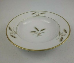 "Rosenthal Bountiful Golden Wheat Center Gold Rim Soup Bowl 8"" - $9.50"