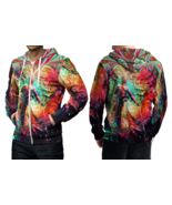 DMT Trippy Psychedelic art Hoodie Zipper For men - $49.99+