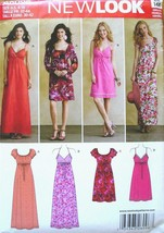 Simplicity New Look Pattern A6096 Misses Dresses Sizes 4-16 Complete 4 S... - $7.55