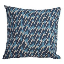 "Diva At Home 20"" Teal Oatmeal White and Ultra Blue Abstract Decorative T... - $99.49"