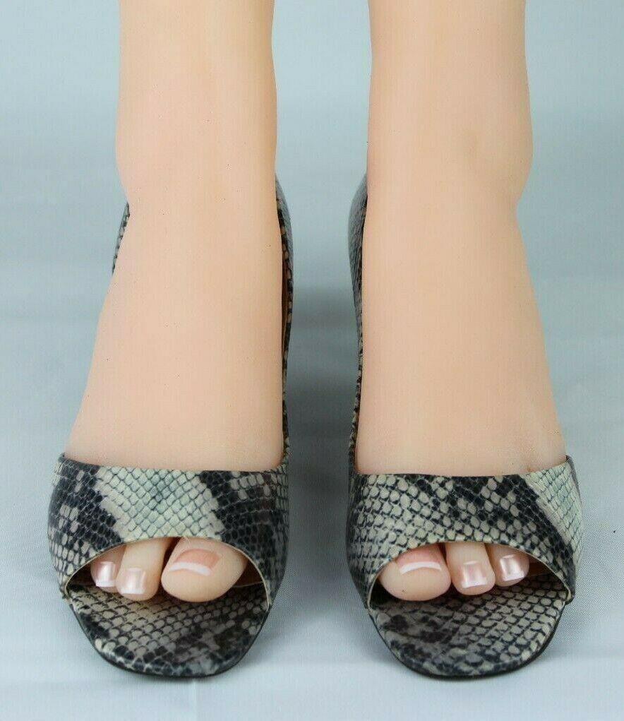 Franco Sarto L Dash Femmes M Talons Ouvert Orteil Animal Imprimé Chaussures 8.5M image 3