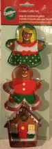 Wilton 3 Piece Metal Cookie Cutters Gingerbread Boy Girl House New Crafts New - $6.26