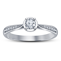 14k White Platinum Plated .925 Silver SIM Diamond Engagement Ring Free Shipping - $69.99