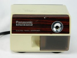 Vintage KP-110 Panasonic Auto Stop Electric Pencil Sharpener Works Made ... - $68.26