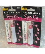 2x L.A. Colors Sugar Kiss Pink Lip Scrub C68131 0.1 oz ea. NIP Smooth So... - $12.37
