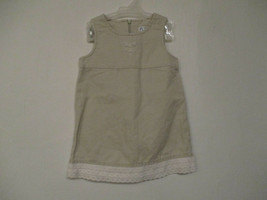Children's Place Size 24 Months Girl's Sleeveless Beige Jumper Dress Lac... - $20.00