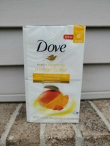 Dove Pampering Mango Butter Beauty Bar Soap 6 Pk (Bars 4 Oz Each) - New In Box - $11.18
