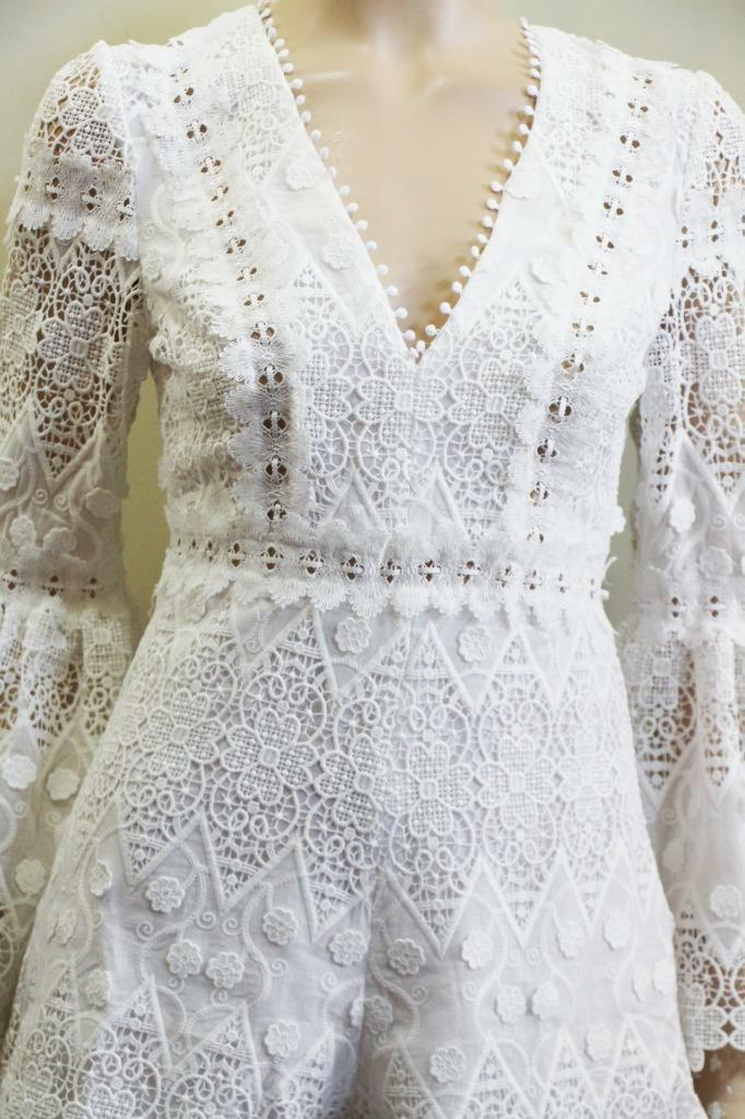 NEW 2018 Auth Alexis Caralyn lace romper in White $485