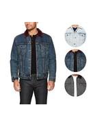 Levi's Men's Classic Button Up Cotton Sherpa Trucker Jacket - $78.40