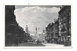 Austria Innsbruck Maria Theresien Str St Annes Column Annasaula RPPC Pos... - $4.95