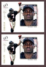 2001 FLEER LEGACY #91 MICHAEL VICK (RC) FOOTBALL CARDS LOT OF 2 - $14.80