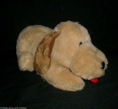 "10"" VINTAGE 1983 ENESCO TAN BROWN LAYING PUPPY DOG STUFFED ANIMAL PLUSH TOY SOFT image 2"