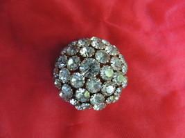 Vintage Warner Rhinestone Domed Brooch - $39.99