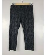 Fabletics Womens Leggings Size Medium Black Floral Print  Active Capri P... - $28.88