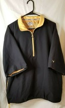 Callaway Golf Brushed Microfiber 1/4 Zip Pullover Black Jacket Yellow Large - $24.75